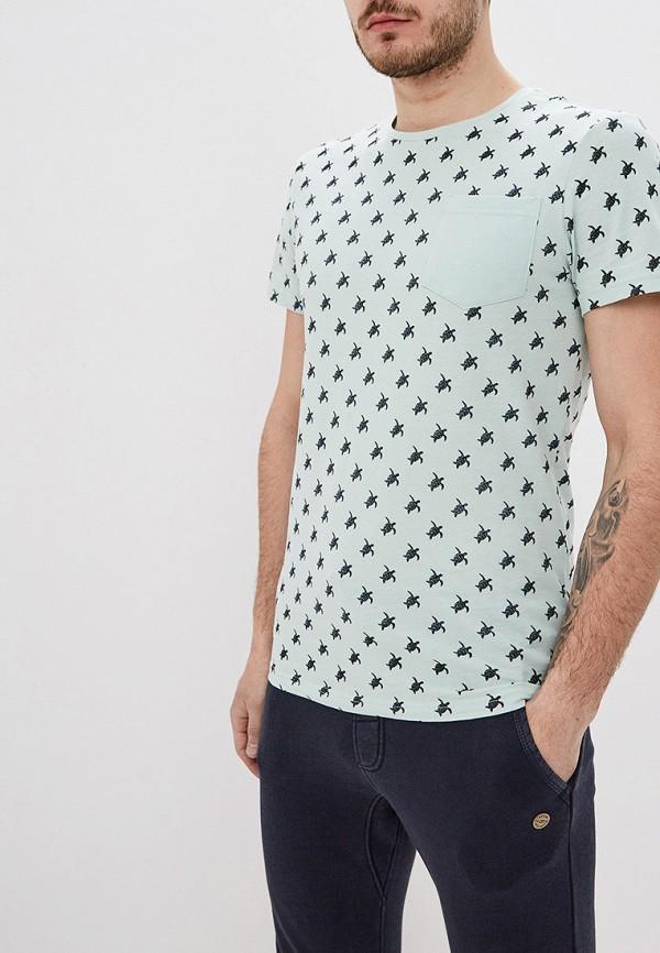 мужская футболка с коротким рукавом blend, бирюзовая