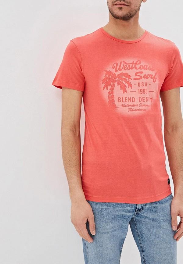мужская футболка с коротким рукавом blend, красная