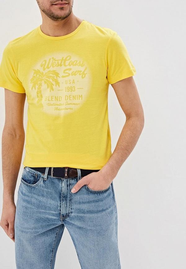 мужская футболка с коротким рукавом blend, желтая