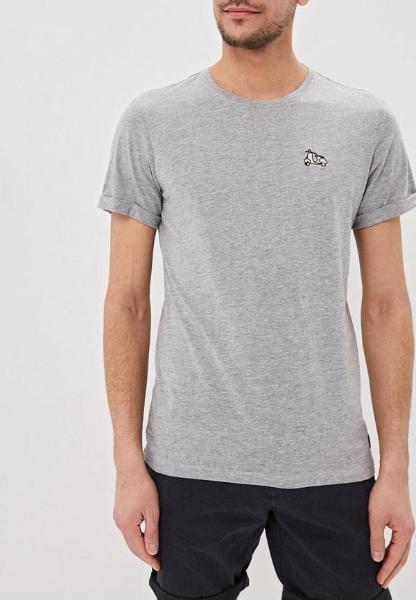 мужская футболка с коротким рукавом blend, серая