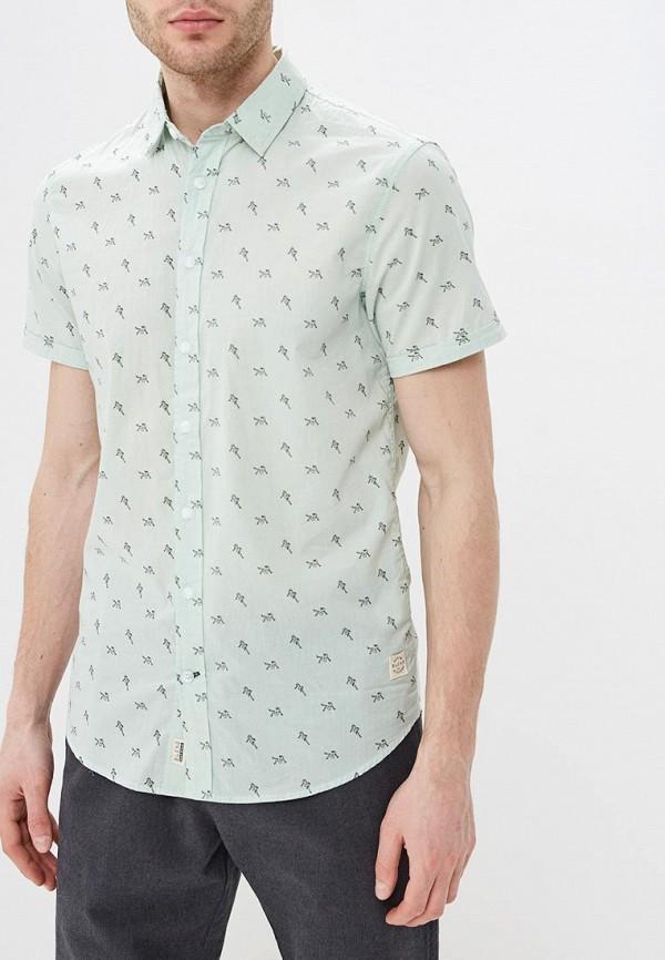 мужская рубашка с коротким рукавом blend, зеленая