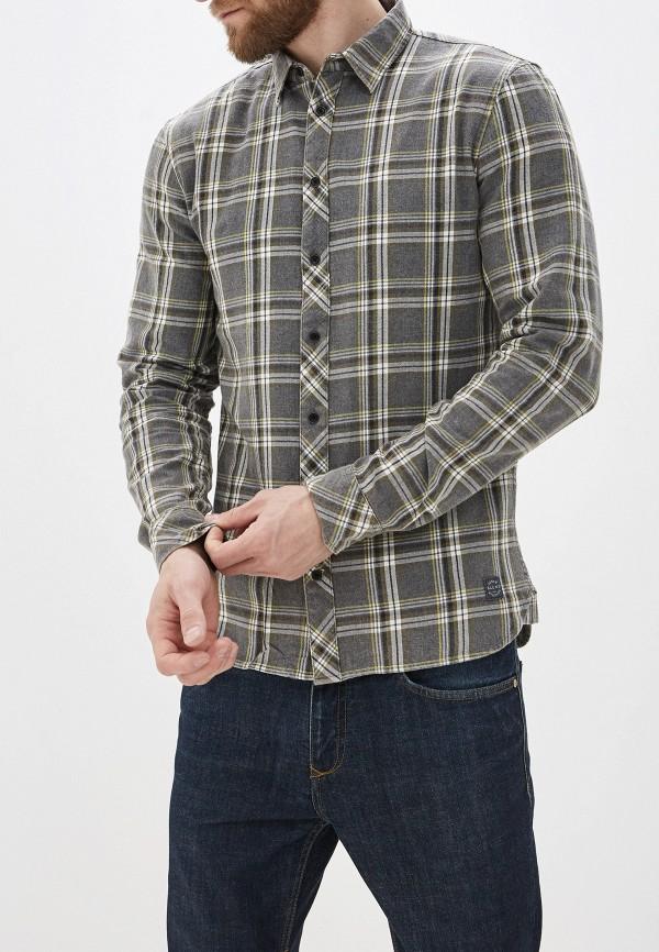 мужская рубашка с длинным рукавом blend, серая