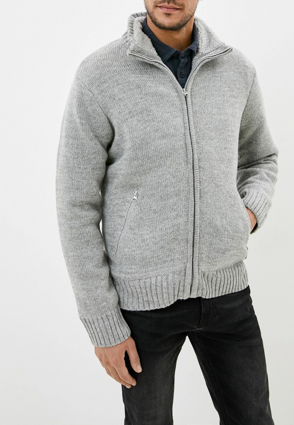 мужской кардиган blend, серый