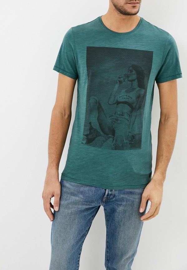 мужская футболка с коротким рукавом blend, зеленая