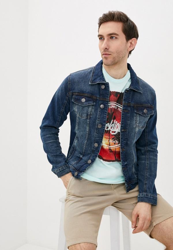 мужская джинсовые куртка blend, синяя