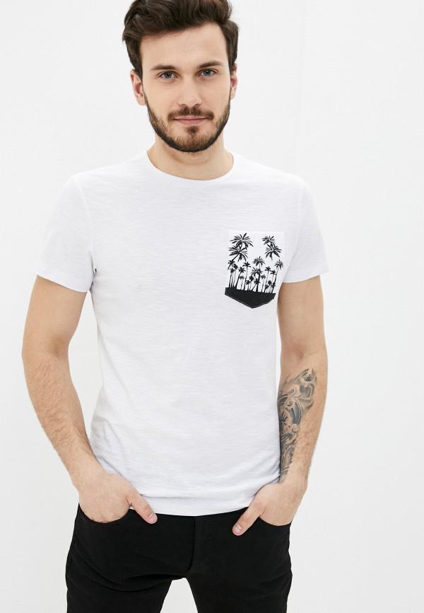 мужская футболка с коротким рукавом blend, белая
