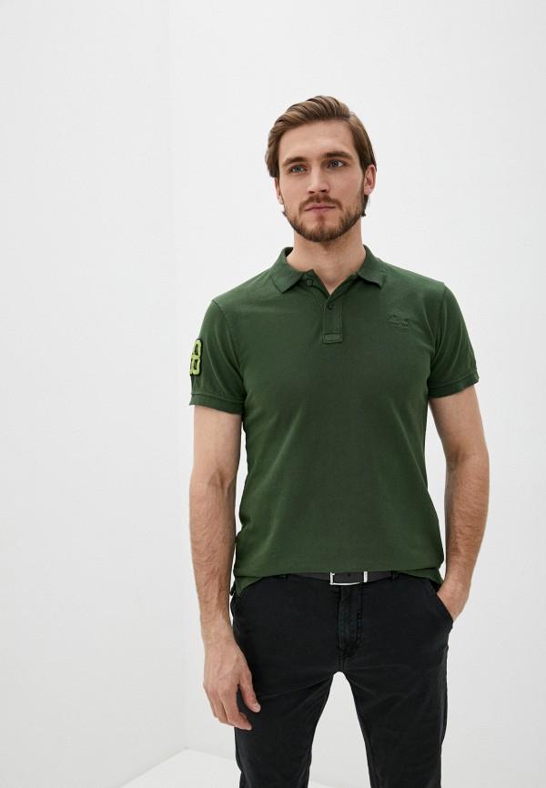 мужское поло с коротким рукавом blend, зеленое