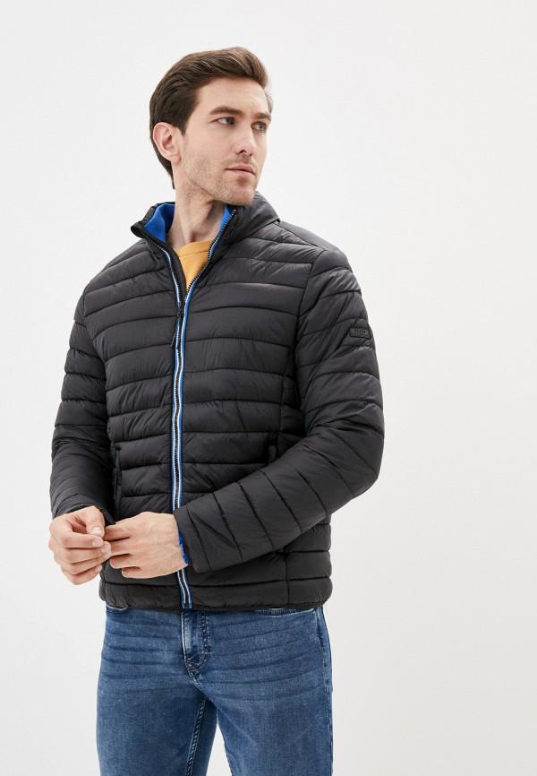 мужская утепленные куртка blend, черная