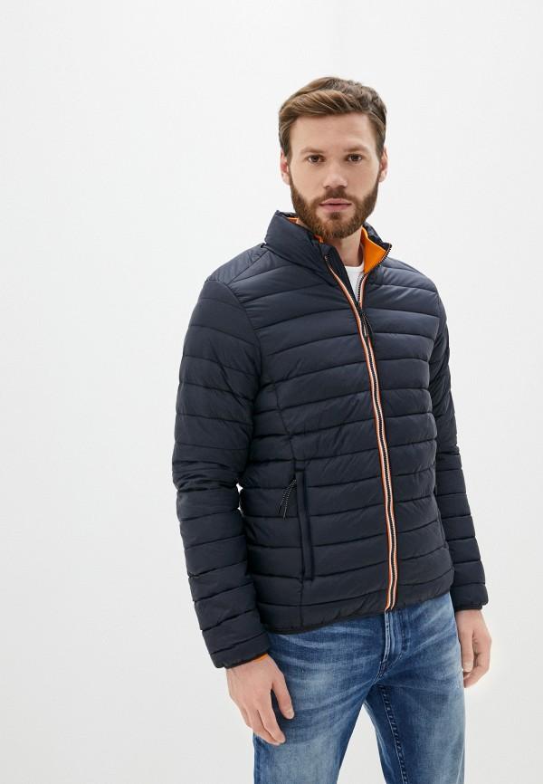 мужская утепленные куртка blend, синяя