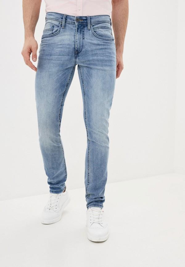 мужские зауженные джинсы blend, голубые