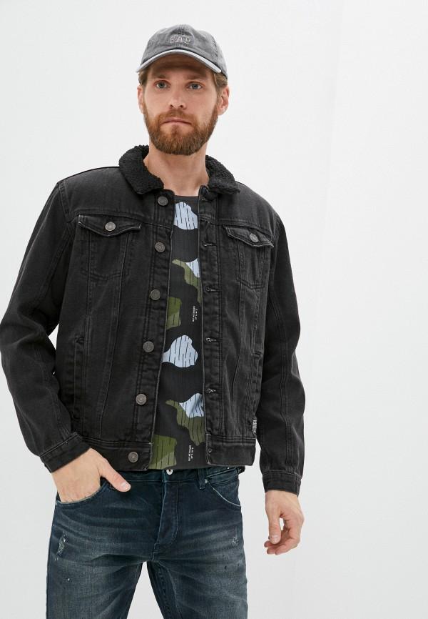 мужская джинсовые куртка blend, черная