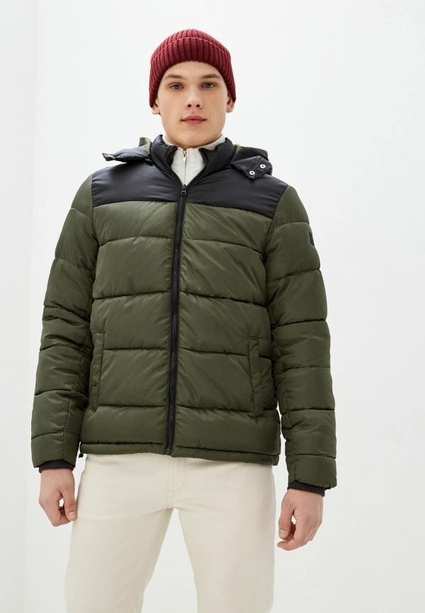 мужская куртка blend, зеленая