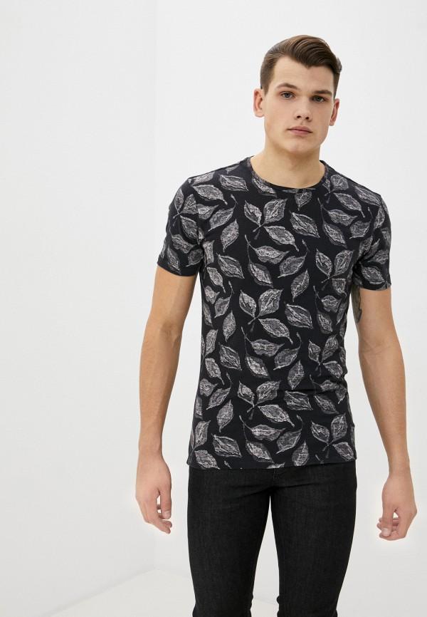 мужская футболка с коротким рукавом blend, черная