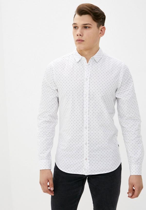 мужская рубашка с длинным рукавом blend, белая