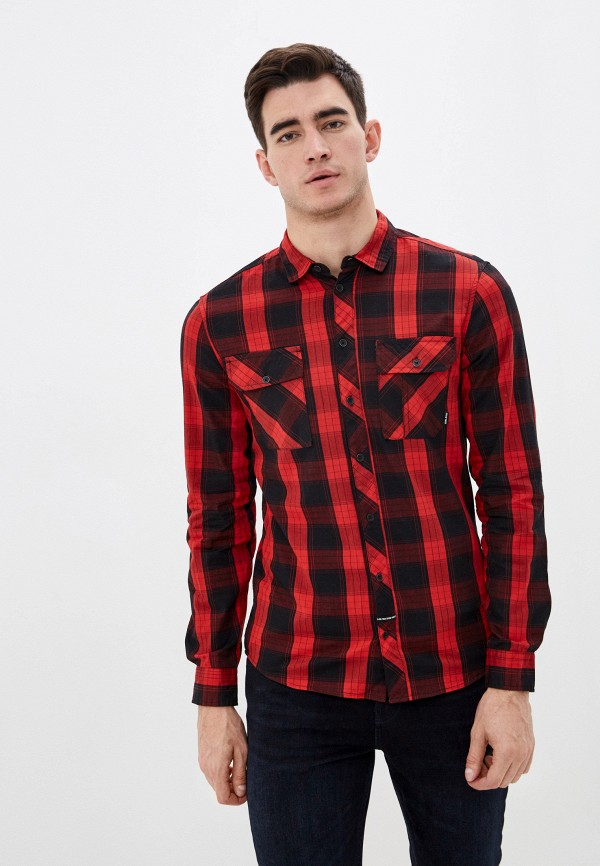 мужская рубашка с длинным рукавом blend, красная