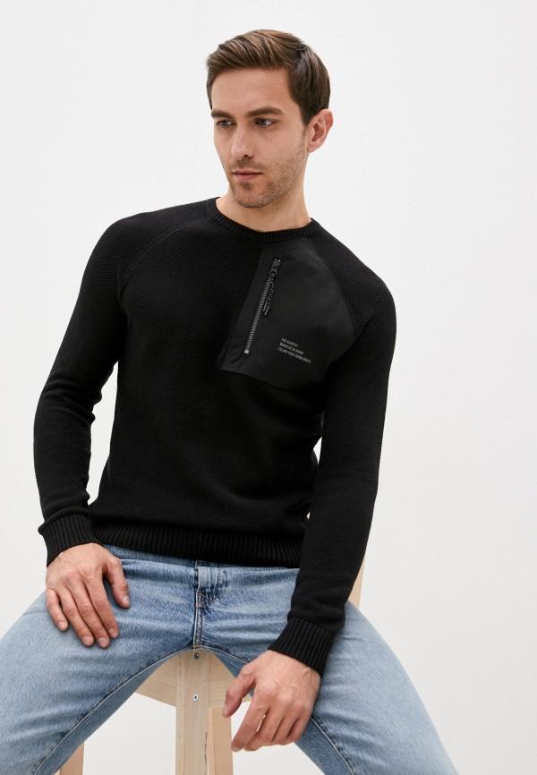 мужской пуловер blend, черный