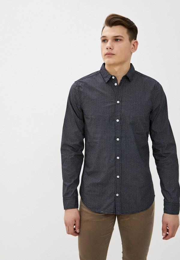 мужская рубашка с длинным рукавом blend, черная