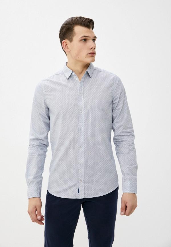 мужская рубашка с длинным рукавом blend, голубая
