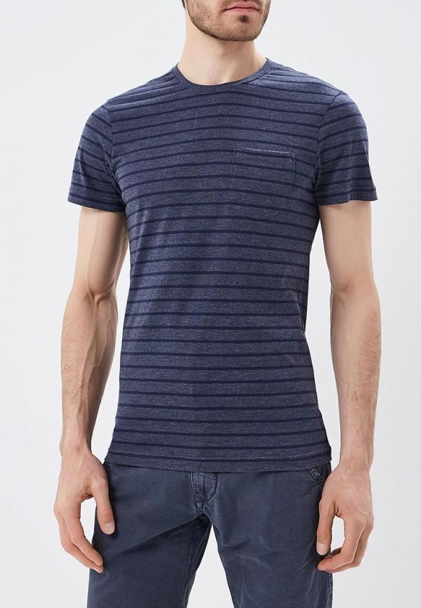 мужская футболка с коротким рукавом blend, синяя