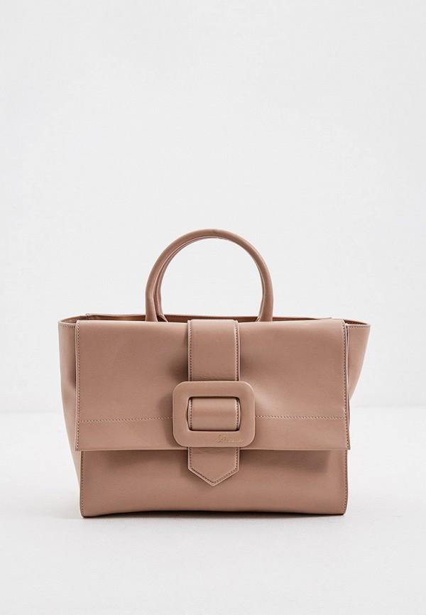 женская сумка blumarine, бежевая