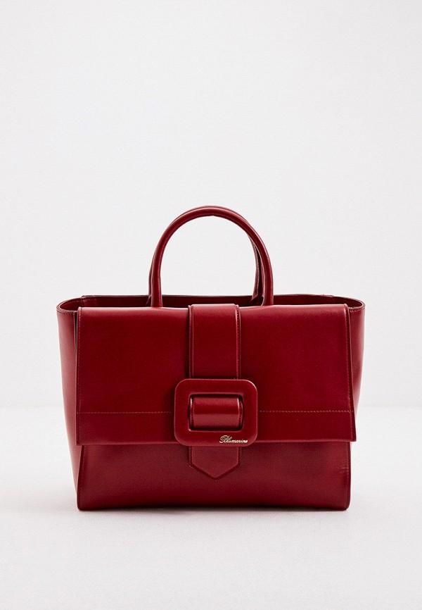 женская сумка blumarine, бордовая