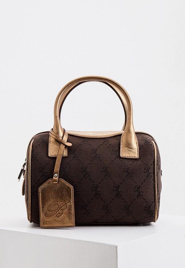 женская сумка blumarine, коричневая