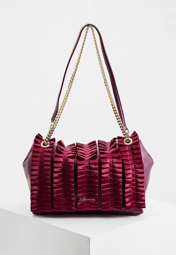 женская сумка через плечо blumarine, фиолетовая