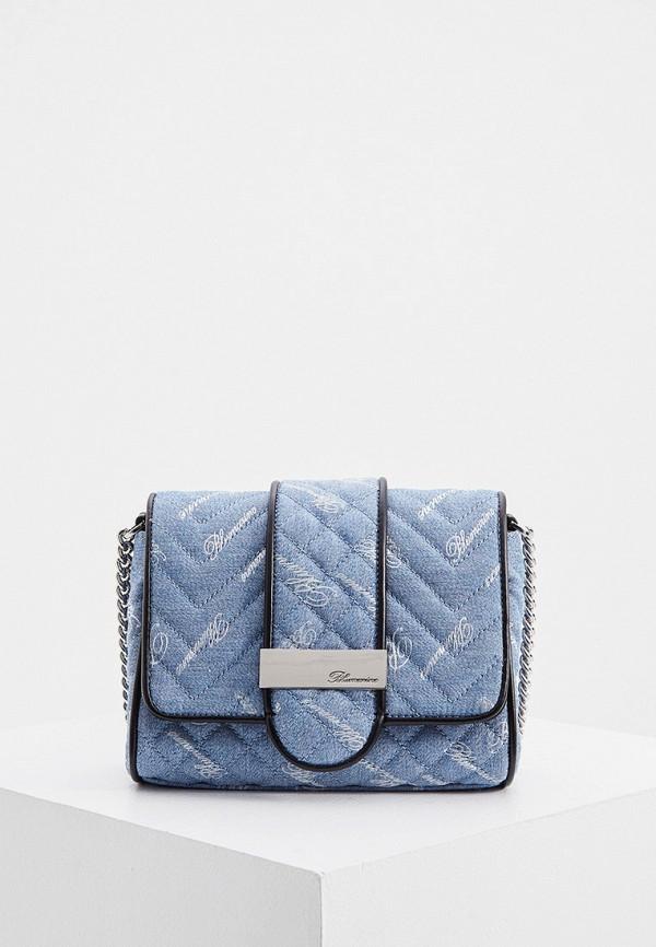 женская сумка blumarine, голубая