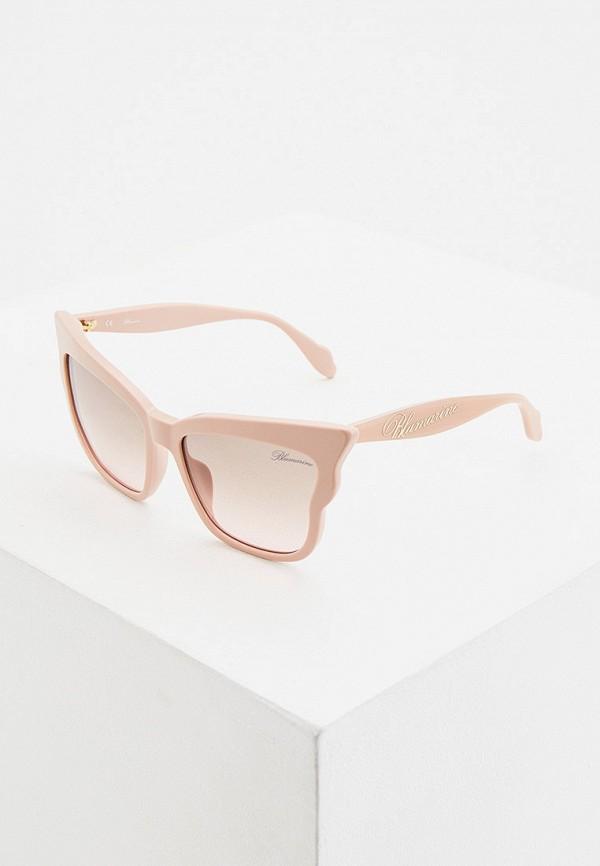женские солнцезащитные очки blumarine, розовые