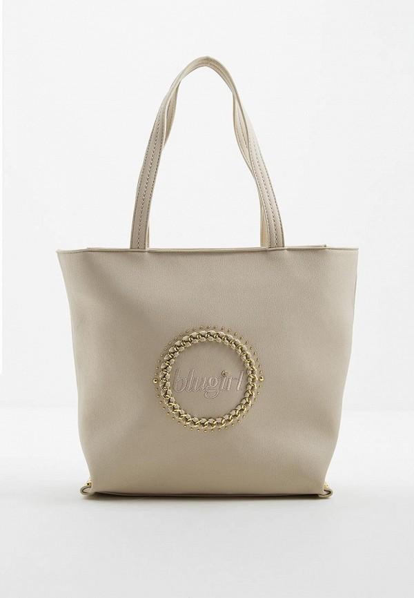 женская сумка blugirl, бежевая