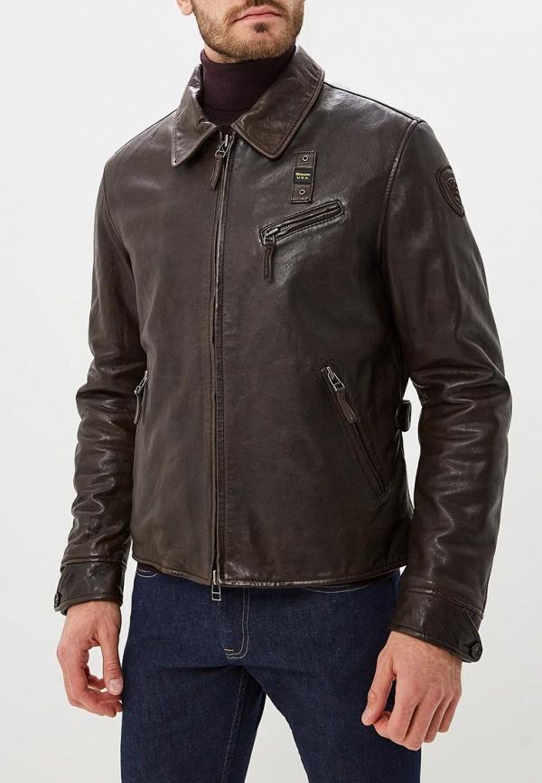 Купить Куртка кожаная Blauer, bl654emcatq7, коричневый, Осень-зима 2018/2019