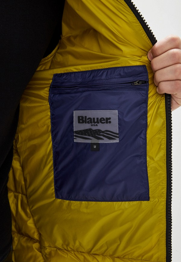 Фото 4 - мужской пуховик Blauer синего цвета
