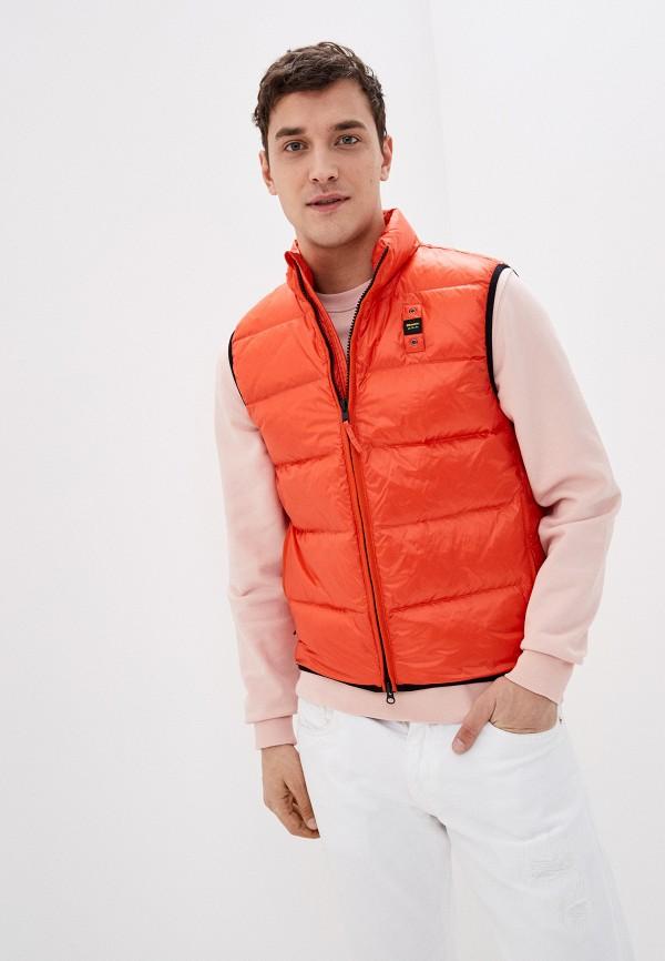 мужской жилет blauer usa, оранжевый