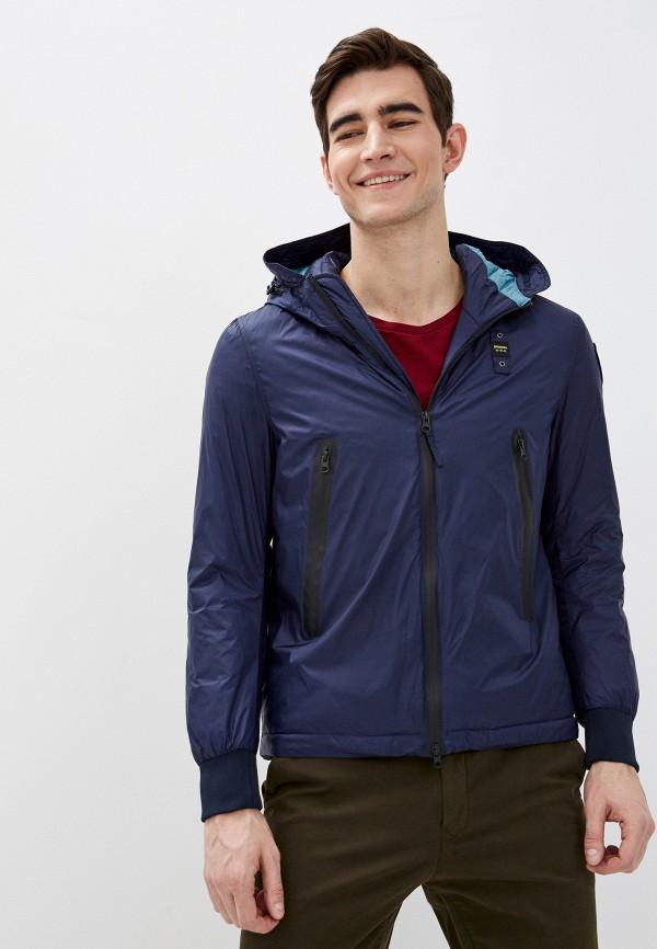 мужская куртка blauer usa, синяя