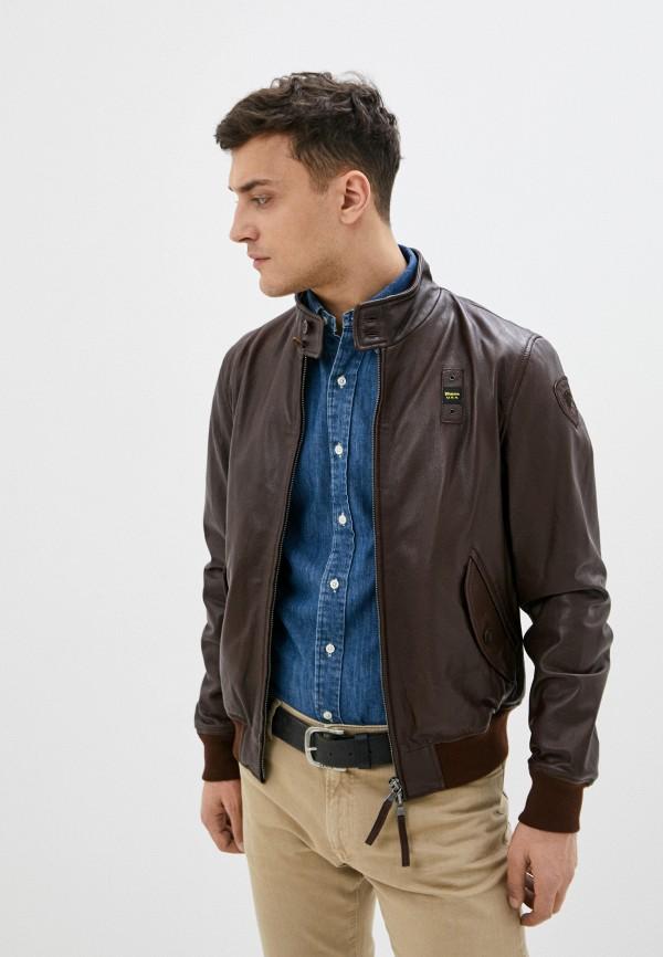 мужская куртка blauer usa, коричневая