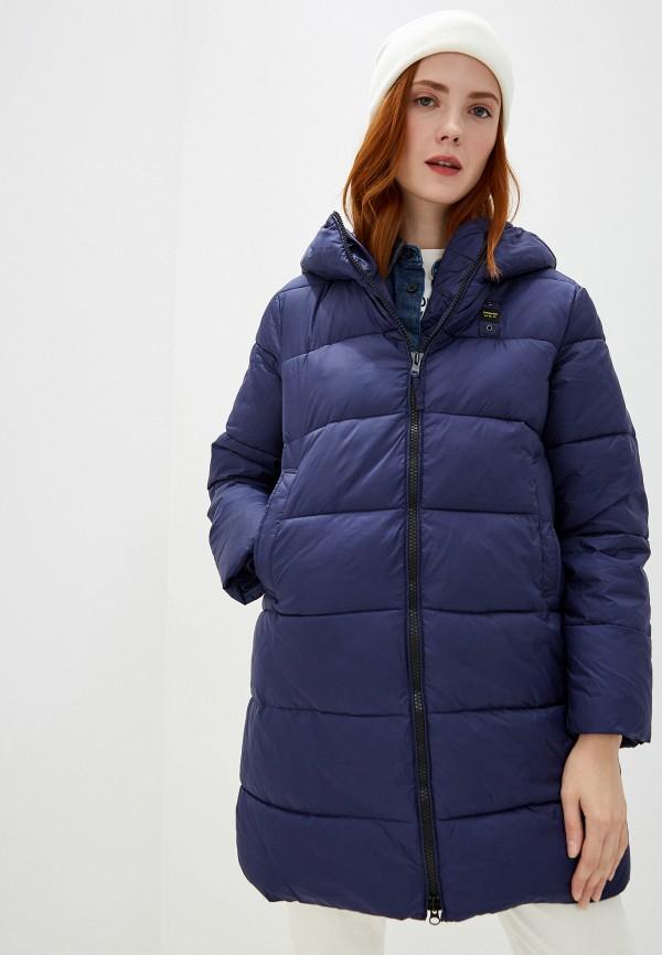 женская куртка blauer, синяя