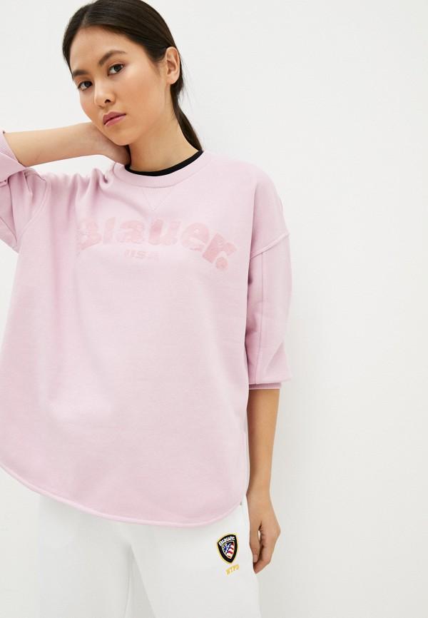 женский свитшот blauer usa, розовый