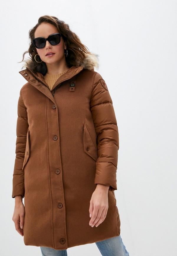 женская куртка blauer, коричневая