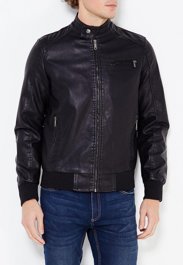 Купить Куртка кожаная B.Men, bm001emwwv24, черный, Осень-зима 2017/2018