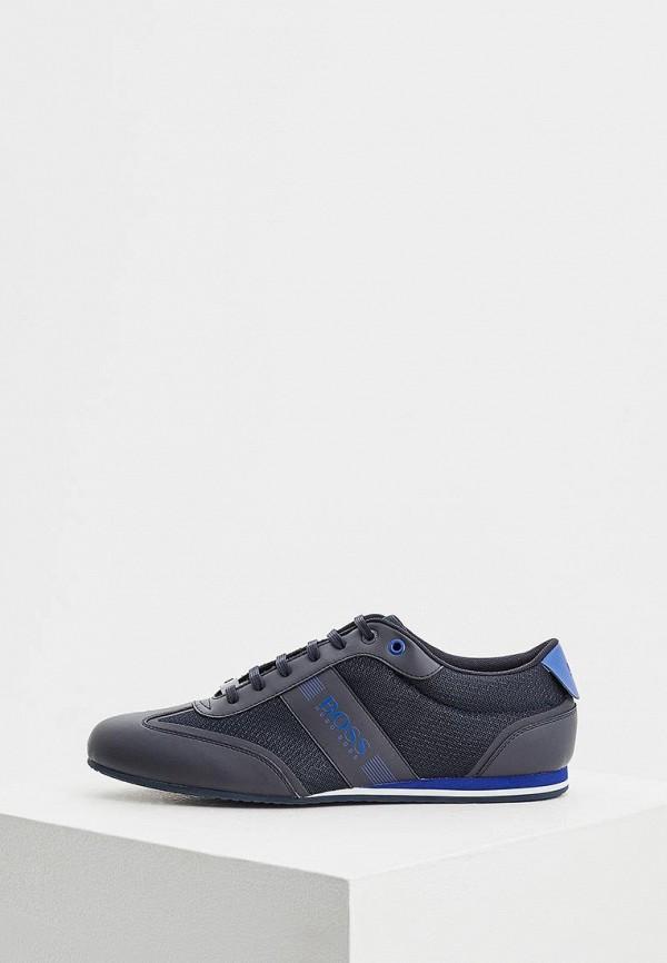 Фото - мужские кроссовки Boss синего цвета