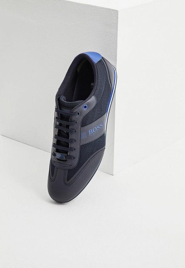 Фото 2 - мужские кроссовки Boss синего цвета