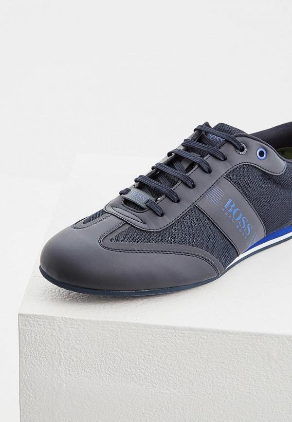 Фото 4 - мужские кроссовки Boss синего цвета
