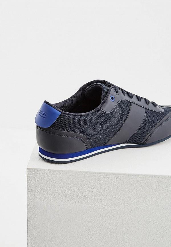 Фото 5 - мужские кроссовки Boss синего цвета