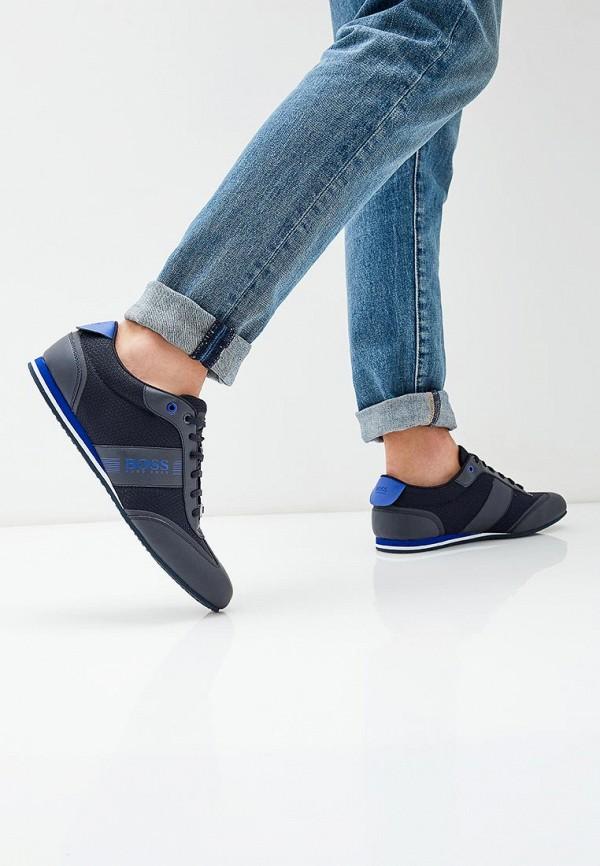 Фото 6 - мужские кроссовки Boss синего цвета