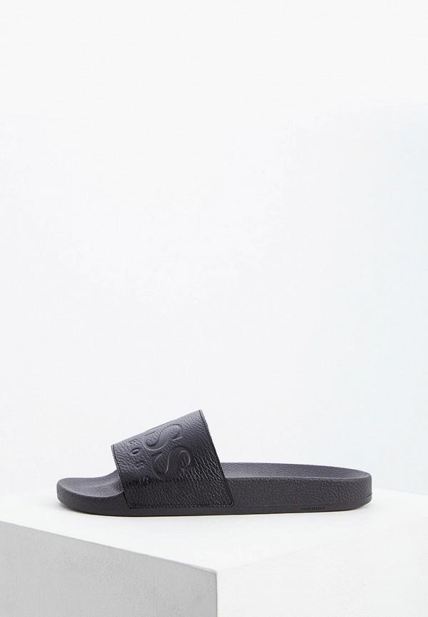 мужские сандалии hugo boss, черные
