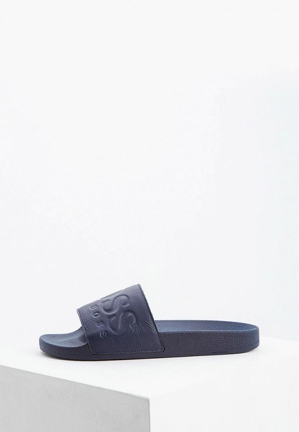 мужские сандалии hugo boss, синие