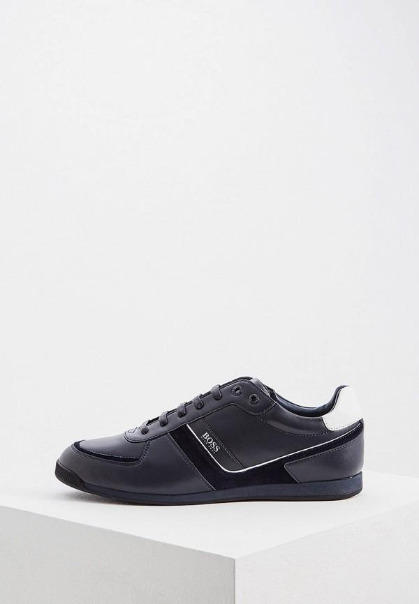 Фото - мужские кроссовки Boss Hugo Boss синего цвета