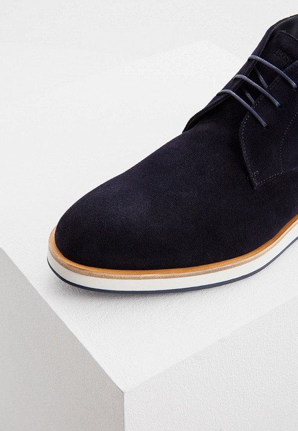 Фото 4 - Ботинки Boss синего цвета