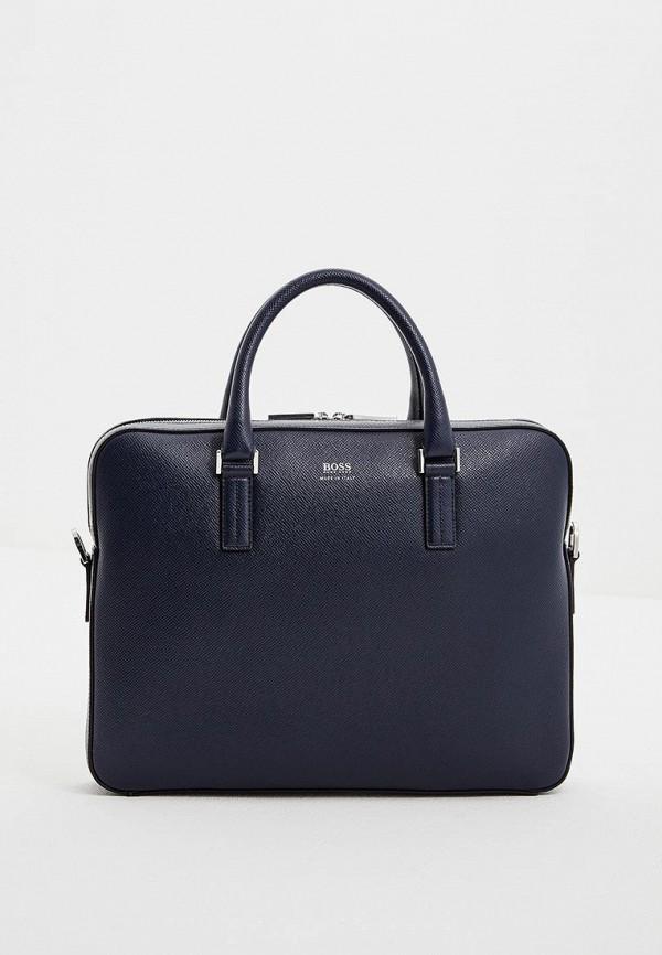 мужская сумка hugo boss, синяя
