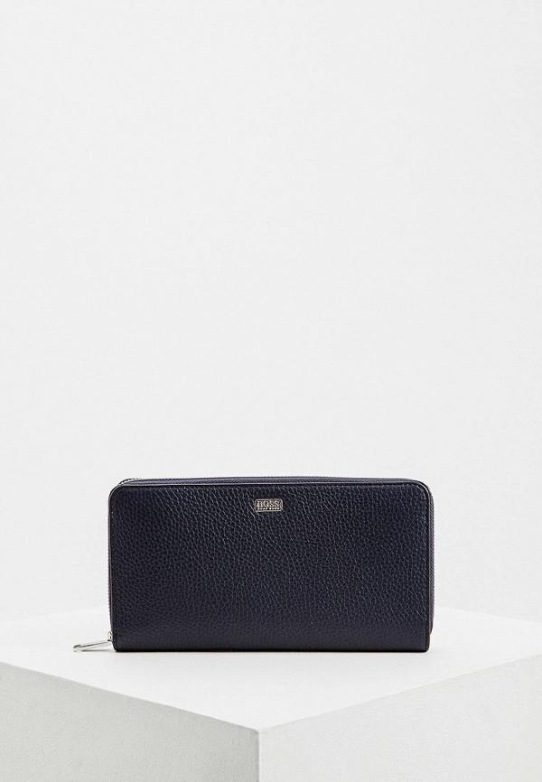 Фото - мужской кошелек или портмоне Boss синего цвета